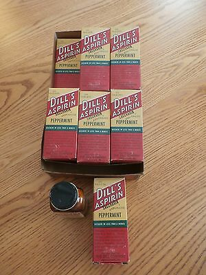 ANTIQUE VINTAGE DILL's ASPIRIN PEPPERMINT DRUG/COUNTRY STORE DISPLAY W/BOX