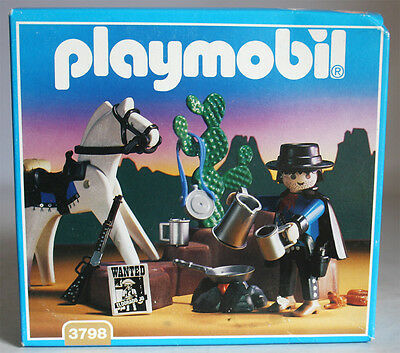 Very Rare Vintage 1994 Playmobil 3798 Western Cowboy Bounty Hunter New Sealed !