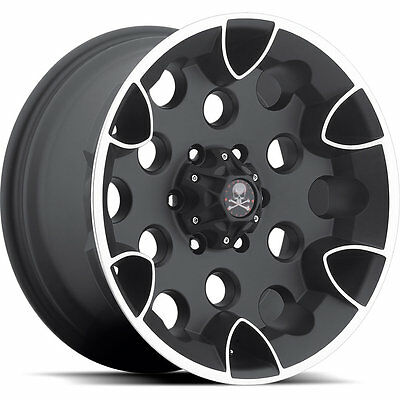 17x9 Black American Outlaw Bullet 6x5.5 -10 Rims Trail Grappler 285/75/17