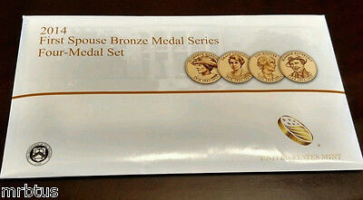 2014 FIRST SPOUSE MEDALS SET US Mint New 1st Lady Bronze Coins