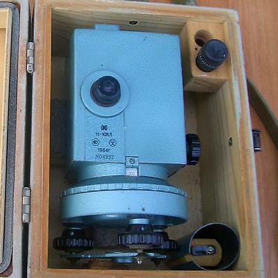 The theodolite (Leveling instrument) N-10kl in the transport box
