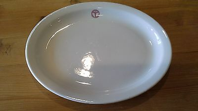 +look+  WWII RED MEDICAL CADUCEUS  OFFICERS MESS HALL PLATTER SHENANGO