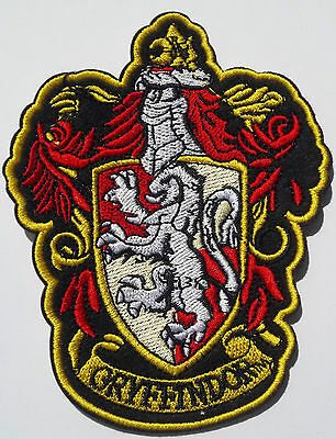 Harry potter Gryffindor school badge Sew/Iron on patch badge motiff fancy dress
