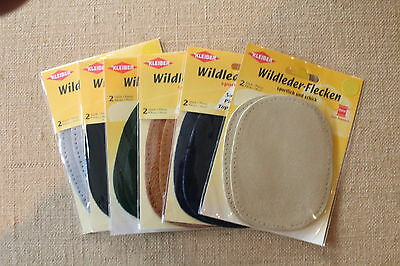 Kleiber Suede Elbow Patches x 2 Washable - Choice of Colours