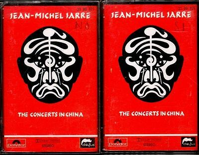 JEAN MICHEL JARRE - The Concerts In China - 2 x SPAIN CASSETTE Polydor 1990
