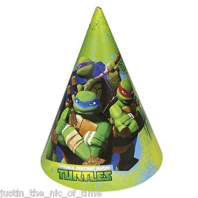 Teenage Mutant Ninja Turtles TMNT Boys Girls Birthday Boy Party Hats x6