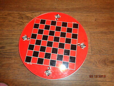 Chinese Checkers/Checkers Vintage Tin Games - Ohio Art