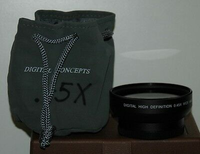 Digital Concepts Digital High Definition 0.45x Wide Angle 52mm Threaded Lens