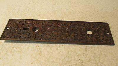 1 Antique Cast Iron Eastlake Door Plate  No. 20