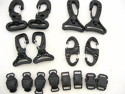KAM quality plastic Swivel Trigger Clip 8 shaped Carabiner Clip hook POM buckles
