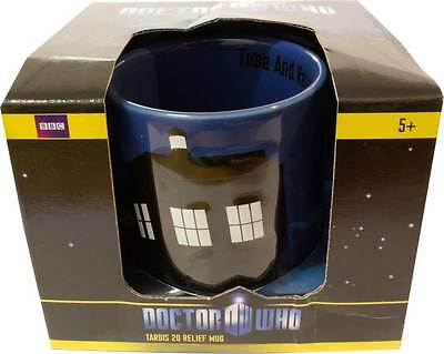 DOCTOR WHO TARDIS 2D Relief Mug NEW In Box * coffee tea drinks cup dr