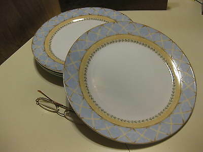 4 Heritage Mint Enchanted Garden Dinner Plates