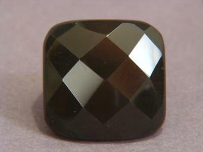Ring Gray Agate 28-35mm Facet Square SZ 6.25 8462
