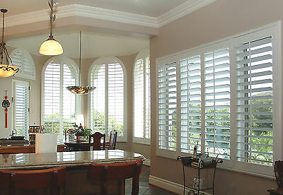 Custom made timber wood plantation shutter PVC shutters from factory supply only