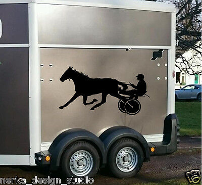 Racing Horse Stickers / TWO Horse stickers / Horse Trailer Stickers / N113