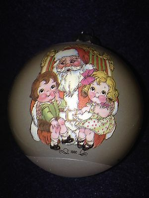 1980 Campbell Soup Kids with Santa Christmas Ornament