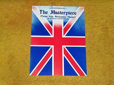 THE MASTERPIECE sheet music from MASTERPIECE THEATRE '90's sheet 4 pp. M- shape