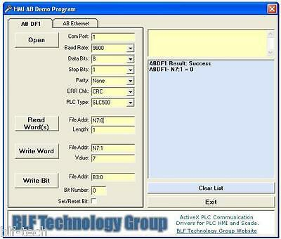 Allen Bradley DF1 & Ethernet ActiveX Driver works with VB 2010 Express and VB 6