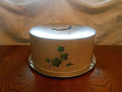 1950's Retro Decoware Ivy ~ Cake and Cannister Tin Set ~ Decorative