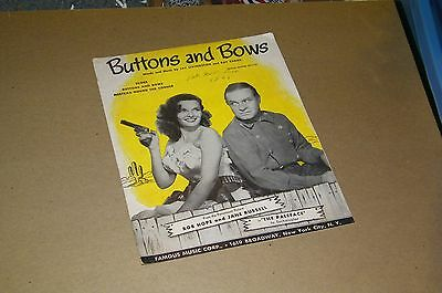 JANE RUSSELL....BOB HOPE......THE PALEFACE.......BUTTONS and BOWS