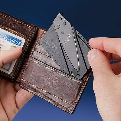 100 pieces supper hot Selling Sinclair Cardsharp Wallet Folding Safety Knife'