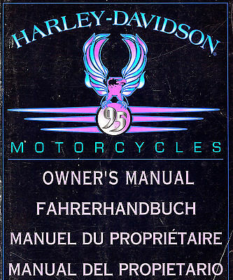 1995 HARLEY-DAVIDSON  INTERNATIONAL OWNERS MANUAL -SPORTSTER-DYNA-SOFTAIL-TOUR