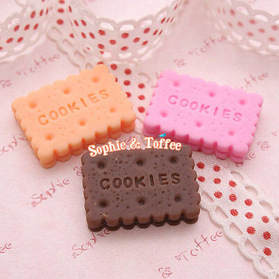 Cute Cookie Rectangle Cabochon - 9pc