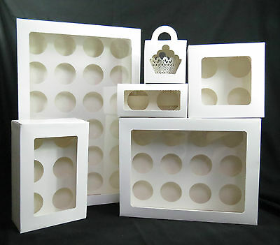 Cupcake Box 1 hole 2 hole 4 hole 6 hole 12 hole 24 hole and mini 12, 24  window