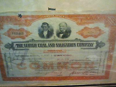 Lehigh Coal and Navigation Company Stock Certificate 1930