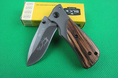 Buck Pocket Clip Saber Camping Fishing Hunting Folding Cute Knife gift NEW k52SX