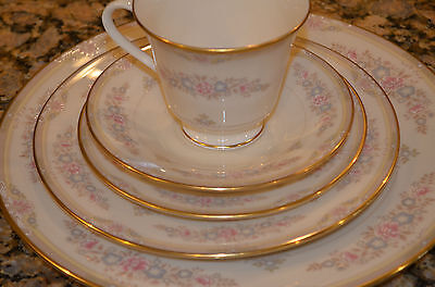 LENOX ~ CHESAPEAKE ~ CHINA ~ 5 PIECE SET, PLATE, SALAD, BREAD, CUP & SAUCER