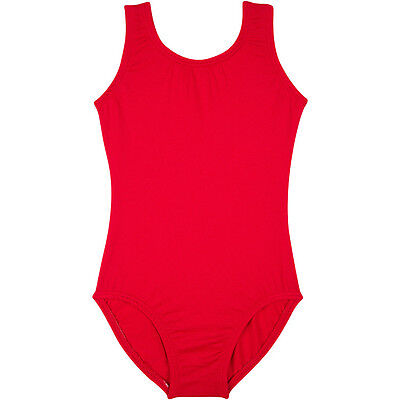 RED Tank Leotard for Toddler & Girls