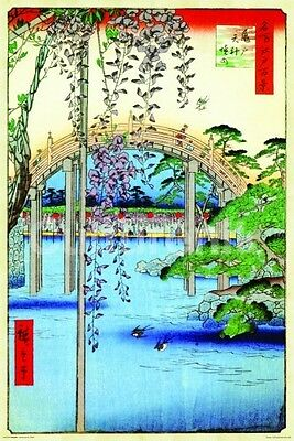 HIROSHIGE - GROUNDS OF KAMEIDO ART POSTER - 24x36 SHRINK WRAPPED - PRINT 4850