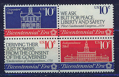 ESTADOS UNIDOS/USA 1974 MNH SC.1543/1546 1st.Continental Congress