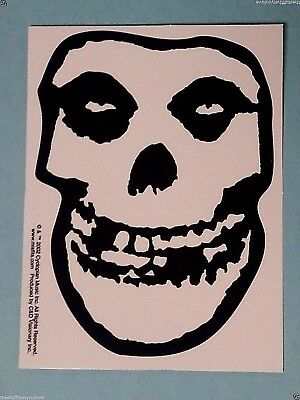 "(#106) THE MISFITS Black & White SKULL 5"" x 3.75"" sticker (513) Skulls"