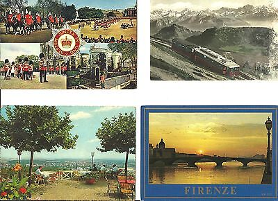 22 vintage postcards scenery of Europe; Germany, Brussels, Pompei, Italy, London