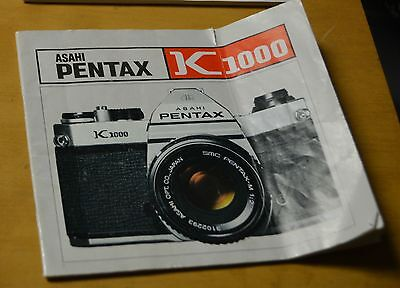 PENTAX ASAHI K1000 35mm CAMERA INSTRUCTIONS OPERATING MANUAL