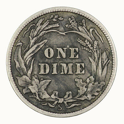 1912 S USA Dime Coin EF30