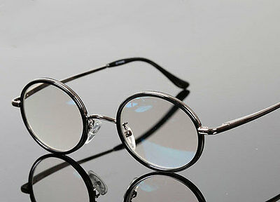 Fashion Men's Vintage Round Metal Full Rim Reading Glasses Reader +1.00 to +4.00