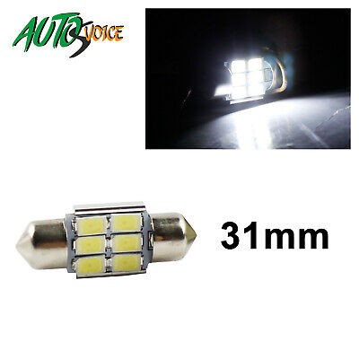 6x 31mm 6SMD 5630 LED Car Festoon Interior Canbus Dome Map White Light Bulbs OZ