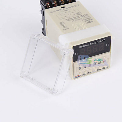 LED Digital Display Relay Module Adjustable Double Time Relay Timer 24~240V AC