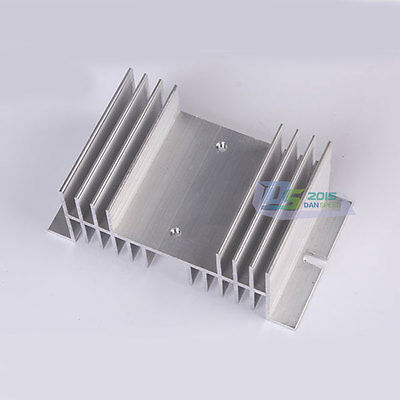 New Solid State Relay SSR Heat Sink Aluminum Alloy Ships For 40A Silver Premium