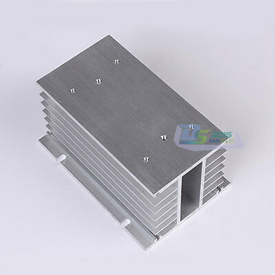 Aluminum Heat Sink for Three Phase Solid State Relay SSR 150mmx100mmx80mm 1Pcs