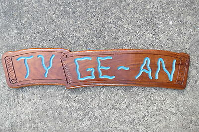 36+1/2 Inch Wood Hand Made Sailboat Name Plate Sign Nautical (#219)