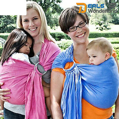 Cotton Ring Sling Baby Carrier Pouch Wrap Newborn to Toddler 5 in 1 Multi-Colors