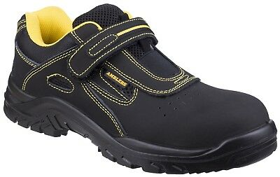 Amblers FS77 black S1P SRC slip resistant safety trainer with midsole size 3-13