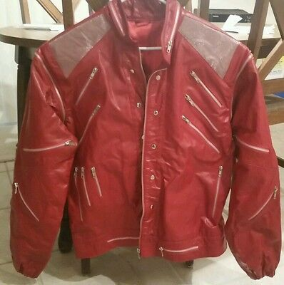 Reduced! Replica Michael Jackson Beat It Leather Jacket