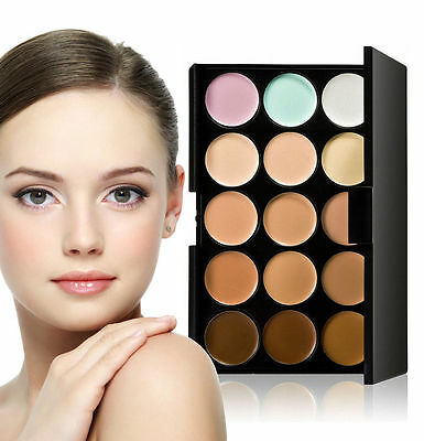 X3#D New 15 Colors Beauty Pro Face Cream Makeup Concealer Contour Palette Kits