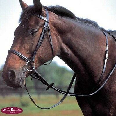 Windsor Leather Standing Martingale, Pony, Cob or Full size Black/Brown FREE P&P