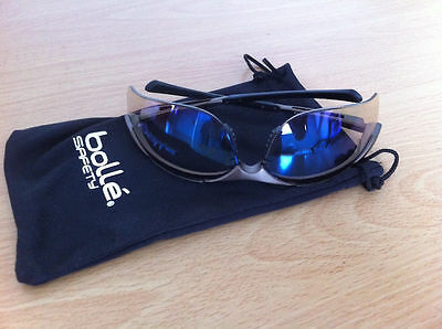 Bolle Contour ESP Safety Glasses Cycling UV Protection Blue Brown Tint FREE Case